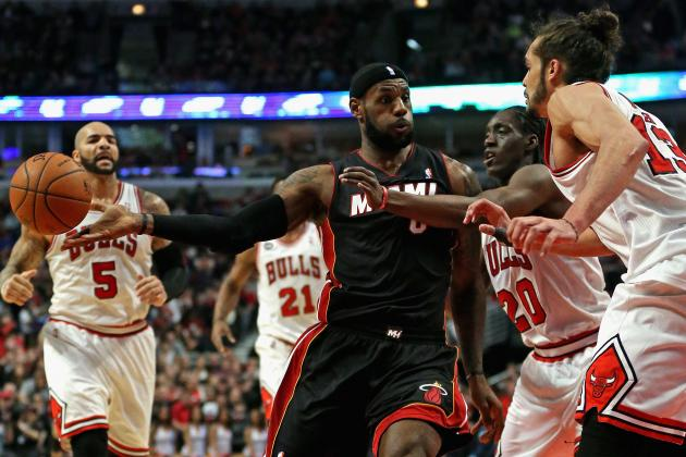 Heat's LeBron James Fails to Attempt Free Throw in Sunday's Loss to the Bulls