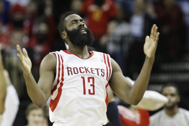 James Harden Hits Clutch 3 to Send Rockets-Blazers to OT