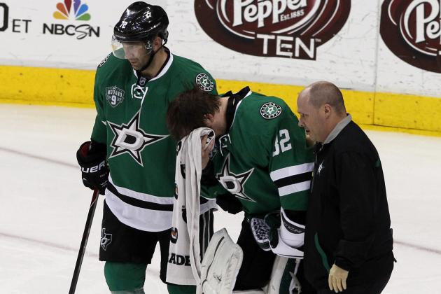 Kari Lehtonen Not Feeling Well After Collision, Stars to Turn to Tim Thomas