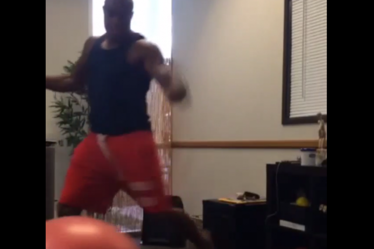 Anderson Silva Practices Kicking with the Leg He Previously Destroyed