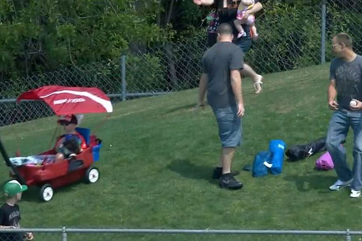 Man Ditches Kid for Baseball, Sends Wagon Down Hill