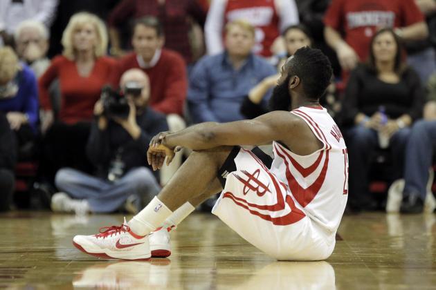 Rockets' James Harden Posts 40-10-6-6 Line Against Portland on Sunday
