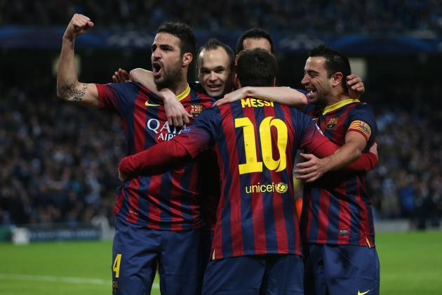 FC Barcelona: How Barcelona Will Line Up Against Manchester City