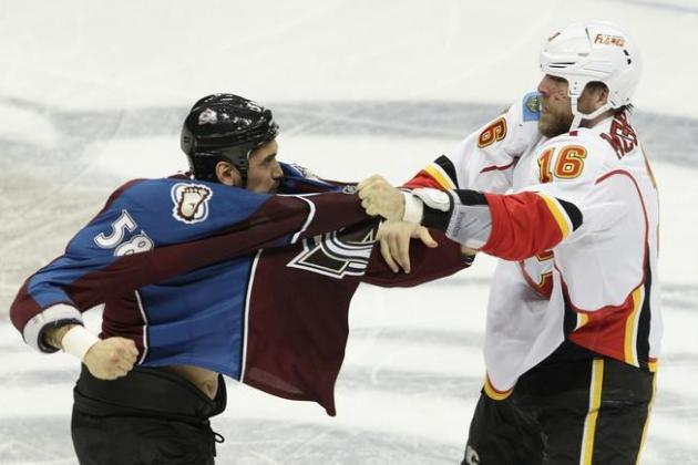 Avs' Patrick Bordeleau Had a Reason for Not Fighting: An Injured Hand