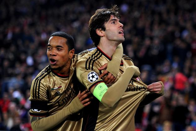 Kaka Scores for AC Milan vs. Atletico Madrid in Champions League Last 16