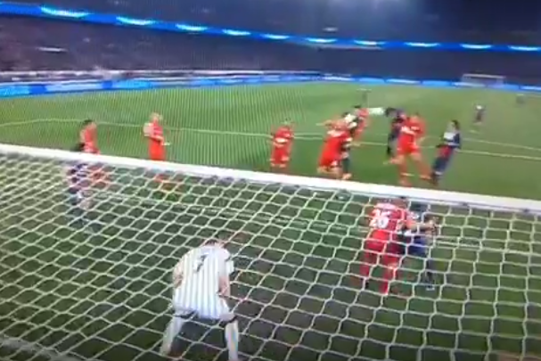 Marquinhos Scores for PSG vs. Bayer Leverkusen with Powerful Header