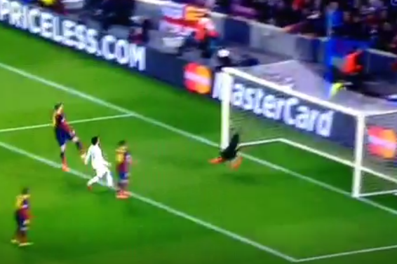 Barcelona's Victor Valdes Pulls off Stunning Save to Deny Edin Dzeko of Man City