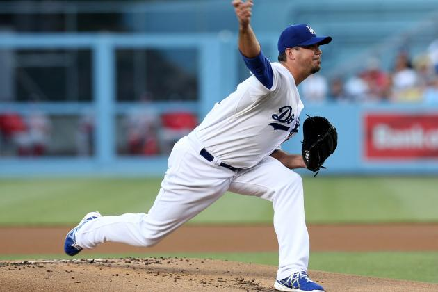 Dodgers Pitcher Josh Beckett Deals with Sprained Thumb