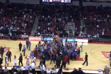 Video: American Fans Storm BU's Home Court After Victory