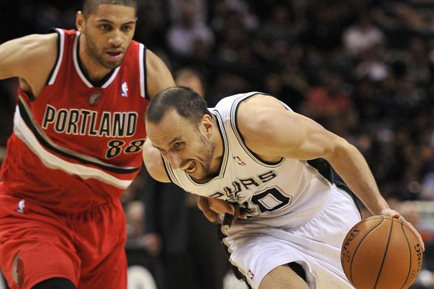 Spurs Win 8th Straight, Beat Blazers 103-90
