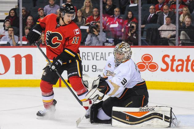 Flames Rout Suddenly Struggling Ducks