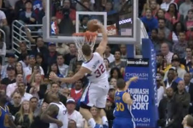 Blake Griffin Slams Home Thunderous Put-Back Dunk