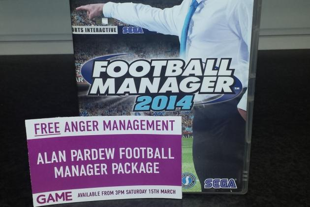 Alan Pardew-Themed Football Manager 2014 Released with Free Anger Management