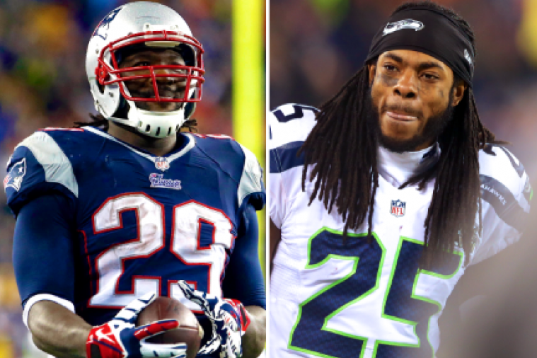 Richard Sherman and LeGarrette Blount Have Twitter Debate on NFL's Top CB