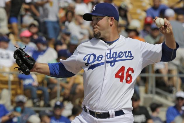 Fifth Spot in Dodgers' Rotation Uncertain After Paul Maholm Hit Hard