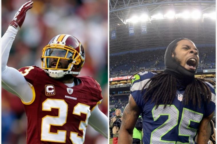 Richard Sherman and DeAngelo Hall Engage in Twitter War