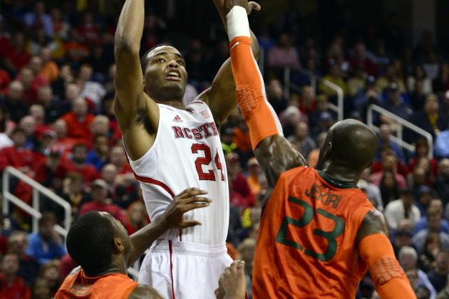 NC State Tops Miami 67-58 in ACC Tourney 2nd Round