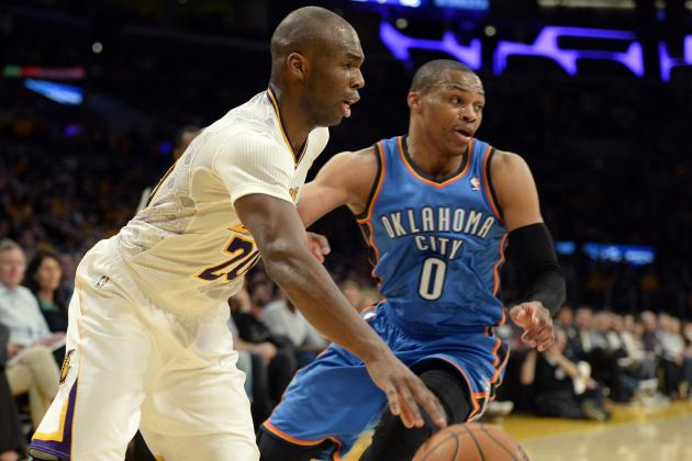 Russell Westbrook Calls Jodie Meeks' Big Game 'Lucky' After Rematch Win