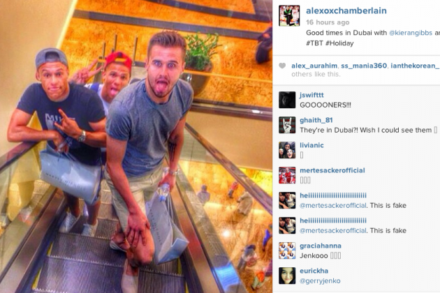 Alex Oxlade-Chamberlain Has to Explain That He Wasn't out Shopping in Dubai