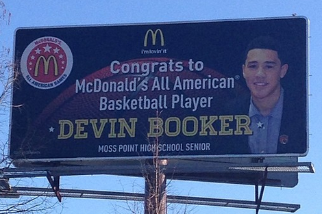 2014 Kentucky Basketball Signee Devin Booker Gets His Own Billboard