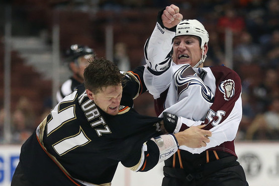 Opening-Game Scuffle Set the Tone for Avs' Season