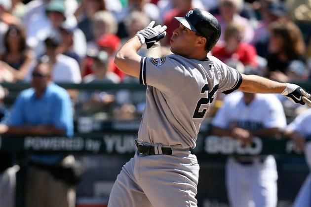Yankees' Mark Teixeira Not Trying to Hit Home Runs — Yet