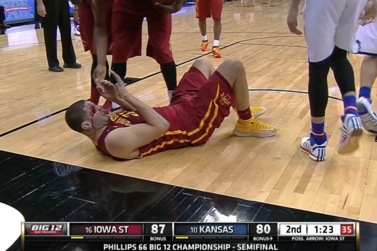 Iowa State's Georges Niang Took an Elbow to the Face That Left Him Very Bloody
