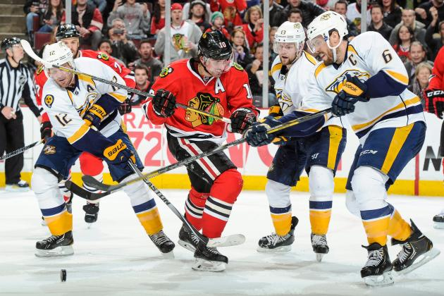 Preds Edge Blackhawks for 3rd Straight Win