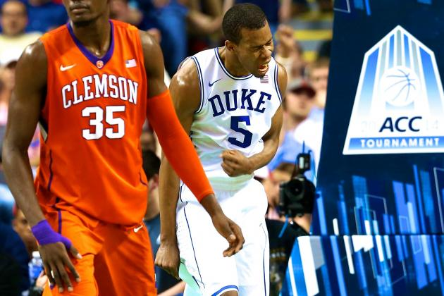Duke vs. Clemson: Score, Grades and Analysis from ACC Tournament 2014