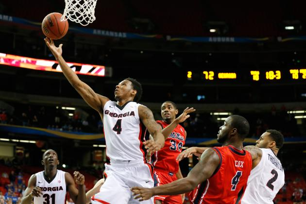 Mann Lifts Georgia Past Ole Miss, 75-73, in SEC
