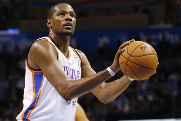 Thunder's Kevin Durant Scores 25+ Points in 30 Consecutive Games