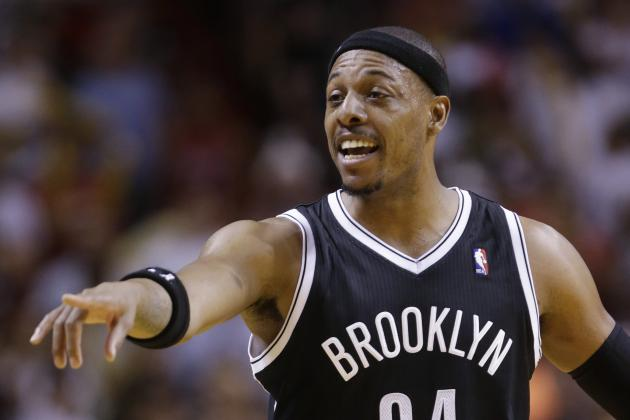 Paul Pierce and Trevor Booker Trade Screams in Washington