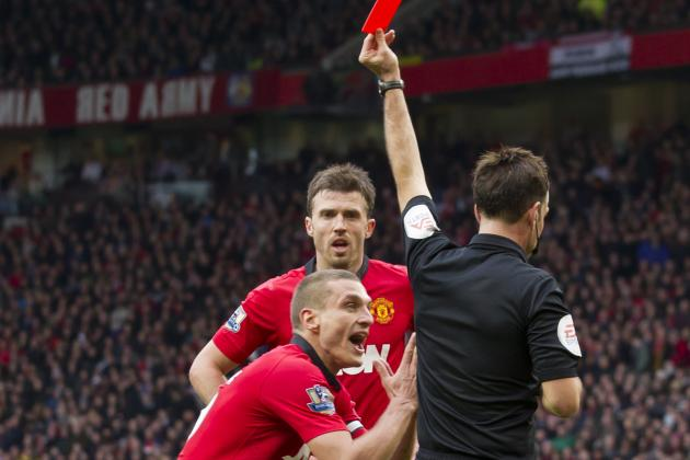 Nemanja Vidic Red Card: How Manchester United Will Fare in Star's Absence