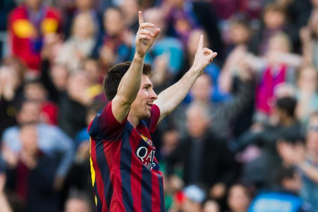 GIFs: Lionel Messi Sets All-Time Goal-Scoring Record for Barcelona