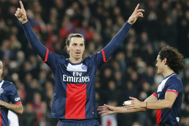 Ibrahimovic and Cavani Watch: Swede Breaks New Record in Firing PSG to Victory