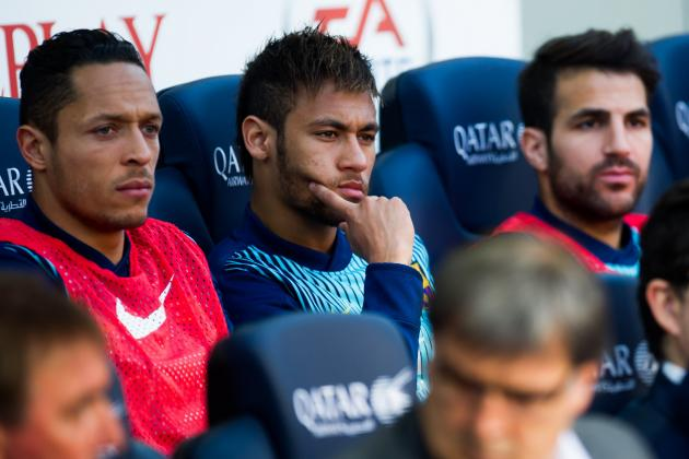 Will Neymar Be Kept on Barcelona's Bench Again for the Clasico?