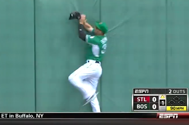 Boston Red Sox's Grady Sizemore Makes 2 Outstanding Catches Against Cardinals