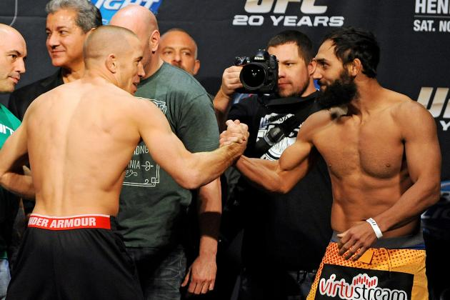 Johny Hendricks Asks Georges St-Pierre for Rematch; GSP Says Wait Around a Bit