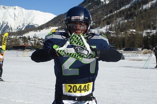Seahawks Fan Dresses Up as Marshawn Lynch, Completes Swiss Ski Marathon