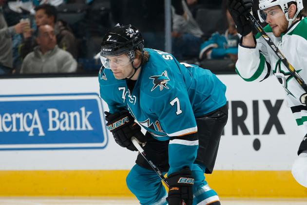 Sharks D Stuart Nearing a Return; Torres Still out