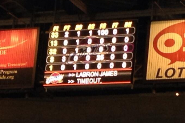 Cleveland Cavaliers Scoreboard Misspells LeBron James' Name 'LABRON JAMES'