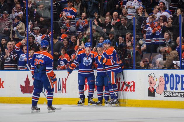Eberle Leads Oilers Past Predators 5-1