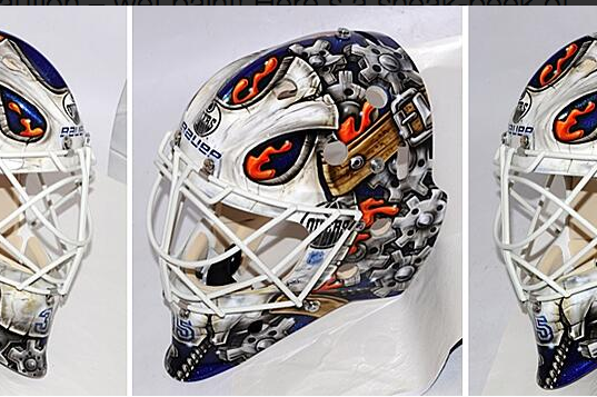 Viktor Fasth Unveils New Oilers Mask