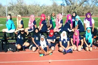 Team Wears Hijab Headscarves in Support of Muslim Teammate Banned from Match