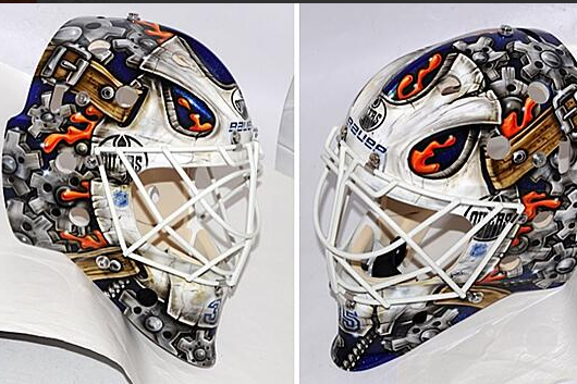 Oilers Goaltender Fasth Unveils New Mask
