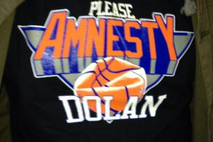 Knicks Fan T-Shirt Calls to Amnesty Dolan