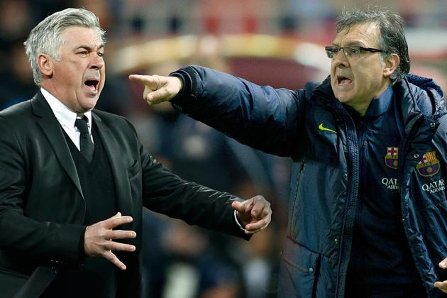 Clasico Places Carlo Ancelotti and Tata Martino Positions in Sharp Perspective