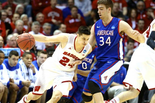 Wisconsin vs. American: Live Score, Highlights and Reaction for Round of 64