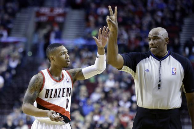 Damian Lillard Breaks Trail Blazers' Single-Season Record for 3-Pointers Made