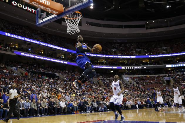 Tim Hardaway Jr. Hits Philadelphia 76ers with Spectacular Reverse Slam